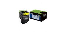 Cartouche laser Lexmark 801SY originale jaune